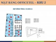 Bán căn hộ OfficeTel Saigon Royal 50m2, 3,2 tỷ, view Bitexco  Liên hệ: 0909008594