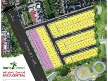 Baria Central Đất nền mặt tiền đường Hương Lộ 2. Giá tốt nhất thị trường chỉ 8,9 tr/m2 LH:0934.191.665 Mr HUY