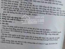 Cần tiền bán gấp đất MT Trần Hải Phụng ,Xã Phạm Văn Hai, Bình Chánh, SHR 700tr/nền