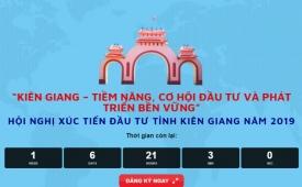 Ngày 29/7: Hội nghị Xúc tiến đầu tư tỉnh Kiên Giang năm 2019