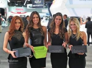 Dàn người mẫu gây sốt tại Detroit Auto Show 2015