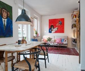Ấn tượng căn hộ có thiết kế sinh động tại Thụy Điển