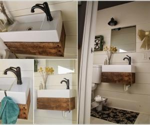 Tân trang phòng tắm với đồ vật cũ
