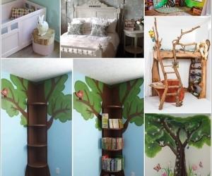 Trang trí phòng bé siêu dễ thương lấy cảm hứng từ cây xanh