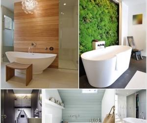 Phòng tắm khác lạ với cách trang trí độc đáo