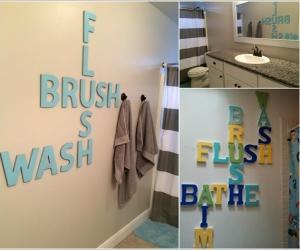 Ý tưởng trang trí dễ thương và sáng tạo phòng tắm của bé