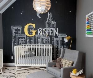 Sử dụng màu đen trong thiết kế phòng cho trẻ