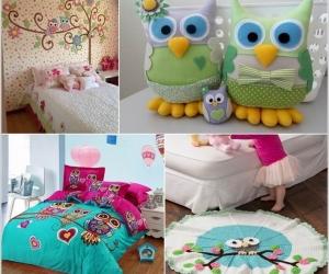 Trang trí phòng cho trẻ với hình cú dễ thương