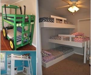 Thiết kế giường tầng tiết kiệm không gian trong phòng trẻ