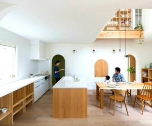 Nhà của những ô cửa hình cung ở Nhật