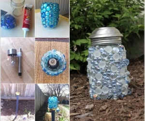 Ý tưởng tạo đèn trang trí lung linh cho vườn nhà