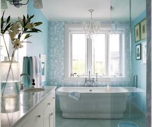 13 ý tưởng trang trí tường phòng tắm