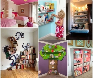 Thiết kế kệ sách sáng tạo trong phòng bé