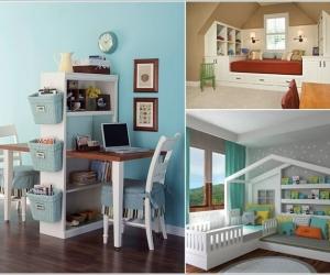 Thiết kế nội thất tiện ích cho phòng trẻ em