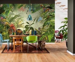 Ấn tượng với phòng ăn mang sắc màu nhiệt đới