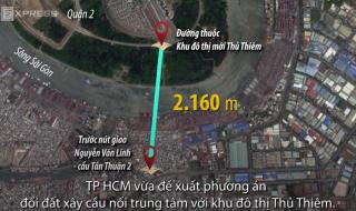 TP HCM đổi hơn 12 ha đất lấy cây cầu 5.200 tỷ đồng