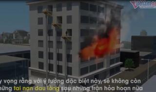 Phát minh ống thoát hiểm cứu cả tòa nhà 24 tầng trong 20 phút