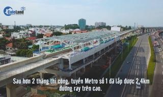 20 km tuyến metro Bến Thành - Suối Tiên đang dần thành hình