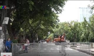 Cưỡng chế các công trình sai phạm trên phố Phan Kế Bính