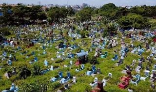Nghĩa trang Bình Hưng Hòa trên cao trước khi quy hoạch
