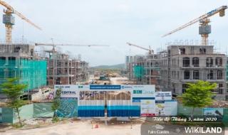 Tiến độ dự án Palm Garden Shop Villas Phú Quốc tháng 5/2020
