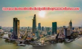Lại lấy ý kiến dự thảo quy định diện tích tối thiểu để nhập hổ khẩu tại TP.HCM