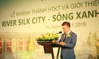 """Dự án """"hot"""" nhất Hà Nam: River Silk City - Sông Xanh chính thức khánh thành hạ tầng kỹ thuật"""