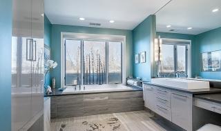 Xu hướng kết hợp với sắc xám trong phòng tắm