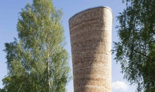 """Lạ lẫm tòa tháp thông gió hình """"cây tù và"""""""