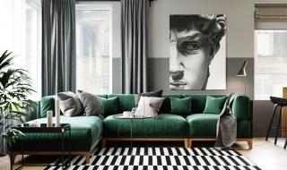 Màu sắc hiện đại trong căn hộ 2 phòng ngủ