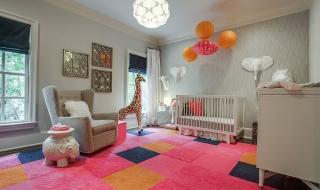 Xu hướng trang trí phòng bé với màu hồng và màu xám