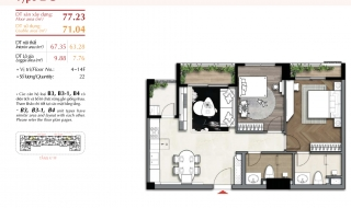 Mặt bằng chi tiết dự án The Ascentia Quận 7