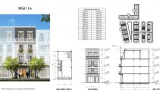 Mặt bằng chi tiết dự án Golden Mark Shophouse Cẩm Phả