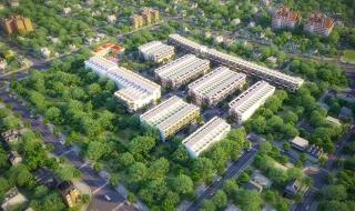 Tiến độ xây dựng thực tế (tháng 5/2018) dự án khu phố thương mại Cát Tường Phú Hòa Long An