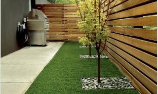 Sử dụng cỏ nhân tạo trong trang trí nhà