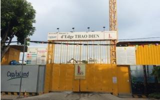 """Xây dựng làm nứt nhà dân, dự án D'Edge Thảo Điền bị """"tuýt còi"""""""