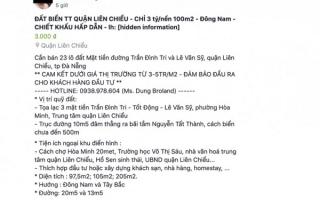 Tung tin thất thiệt bán 23 lô đất mặt tiền ở Đà Nẵng, nhân viên bất động sản bị phạt 10 triệu đồng