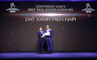 Đất Xanh Miền Nam đạt giải Best Estate Agencies Southeast Asia 2019