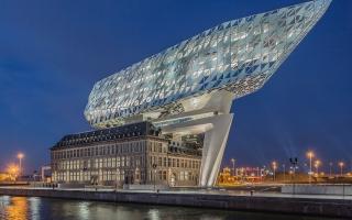 Mát mắt trước kiến trúc hình con tàu kim cương ở Bỉ