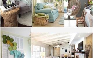 Trang trí phòng khách với nội thất wicker