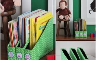 Ý tưởng tạo kệ sách đáng yêu cho bé