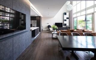 Căn hộ 2 tầng tạo dấu ấn với phong cách hiện đại ở Hà Nội
