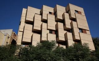 Tòa dân cư Khab-E-Aram dạng khối hộp lồi tràn ngập