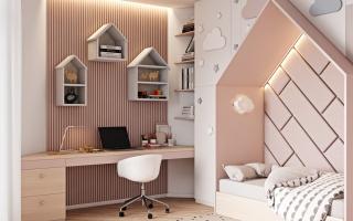 Căn nhà hiện đại tinh tế với hai phòng ngủ trẻ em đầy cảm hứng