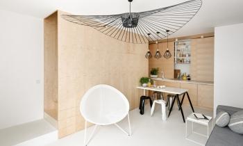 Căn hộ Duplex bố trí nội thất khéo léo