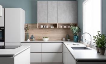 Thanh lịch, tinh tế với không gian bếp màu trắng