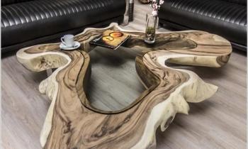 Phòng khách ấn tượng với thiết kế bàn nhựa Epoxy