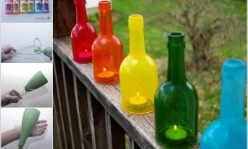 Ý tưởng trang trí vườn bằng vỏ chai