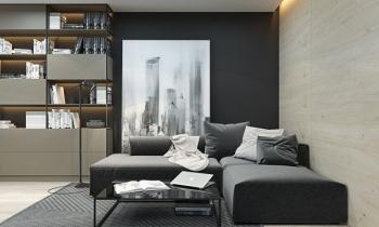 Căn hộ studio với thiết kế đơn sắc hiện đại