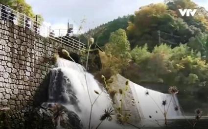 Trạm thủy điện nhỏ đẹp như khu du lịch ở Nhật Bản